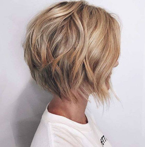 Loose Ombre Waves for short haircuts