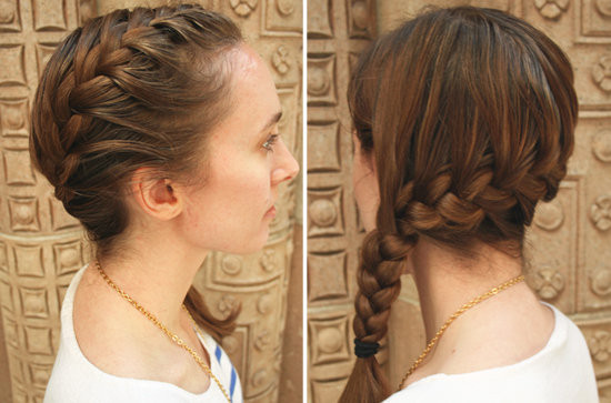 Side Part French Braid Hairstyles For Medium hair