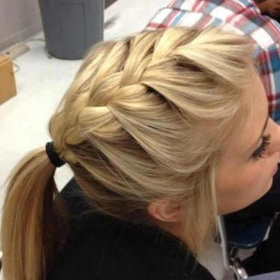 messy fishtail braid for medium hair