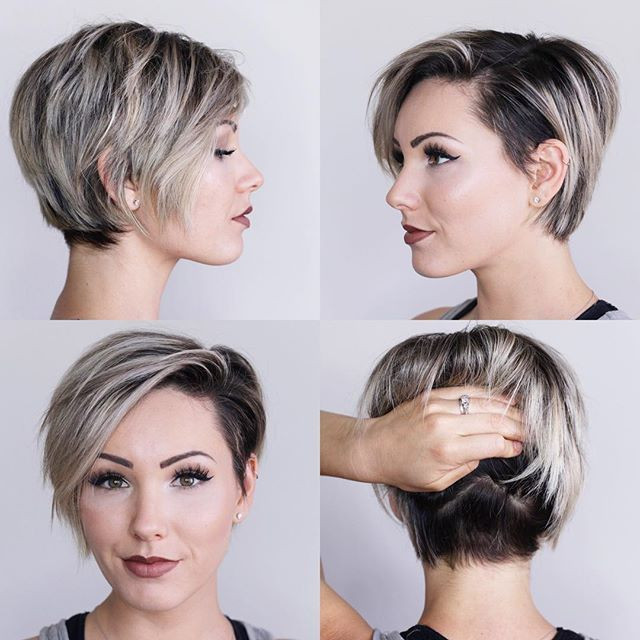 Side-Swept Short Hairstyles Ideas for Women
