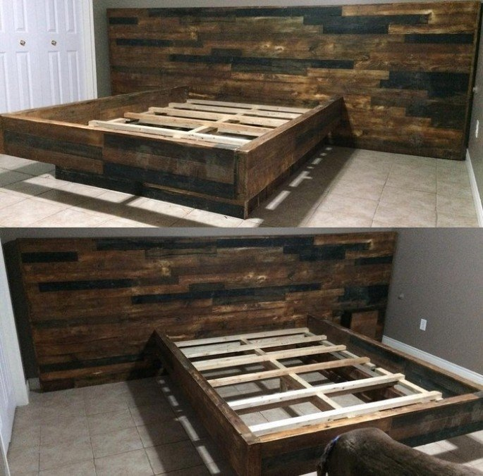Diy pallet bed frame ideas