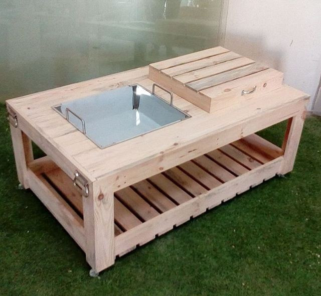 Pallet multistorage table