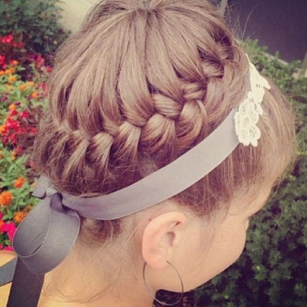 Easy Updo Braids Hairstyles for Little Girls