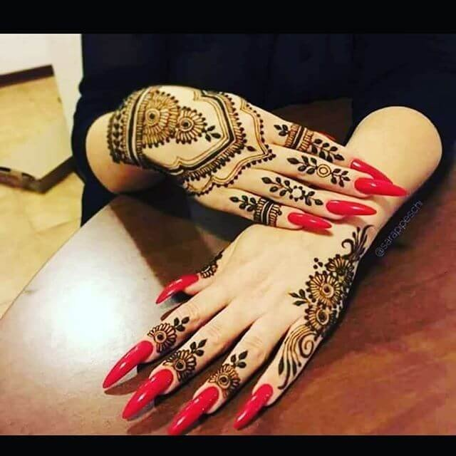 Latest  Mehandi Designs for Formal and Informal Event