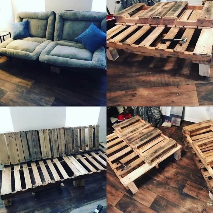 Creative Pallet Couch Projects ideas Made From Wood - Sensod