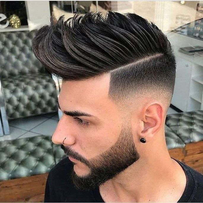 Top and Modern Faux Hawk with Low Burst hairstyles