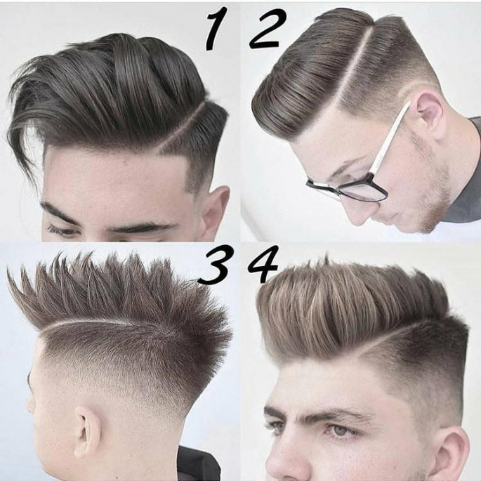 New and Modern Faux Hawk with Low Burst hairstyles