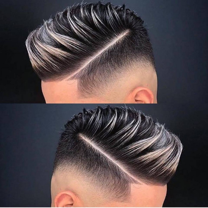 Modern Faux Hawk with Low Burst