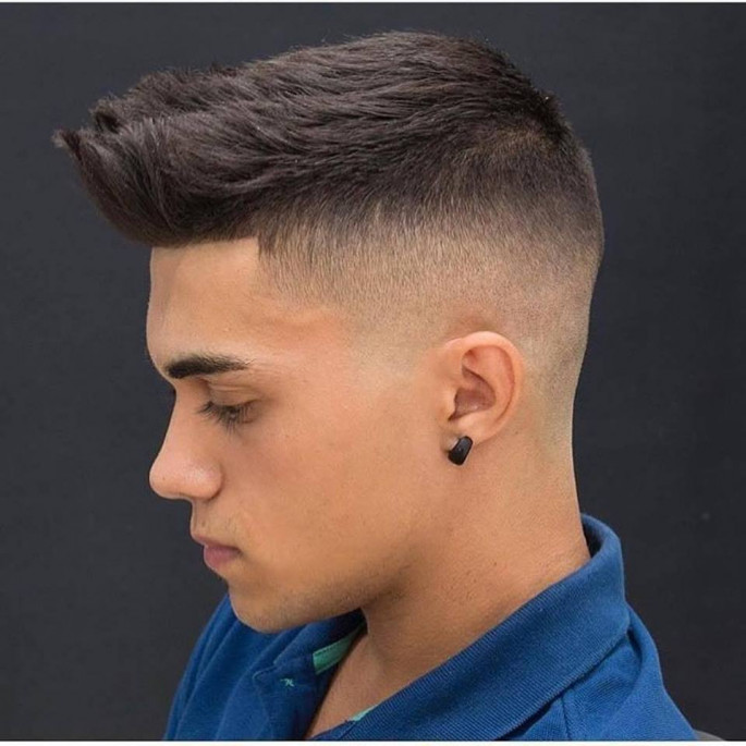 Short Messy Hair with Low Fade