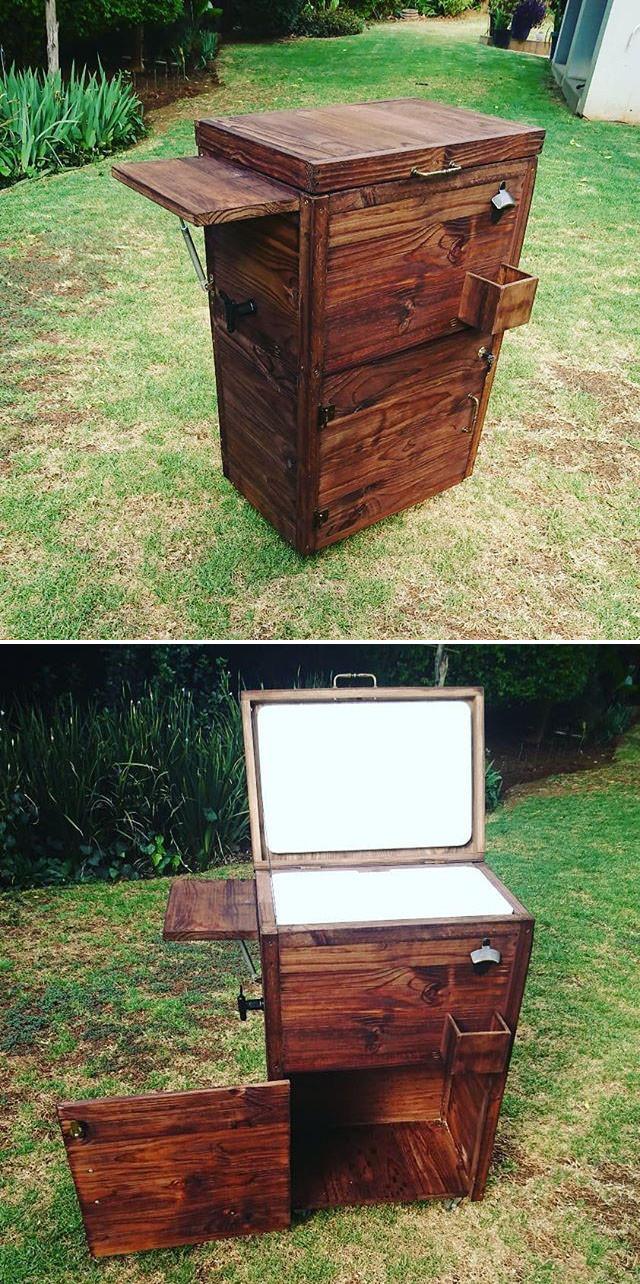 Pallet outdoor cooler ideas