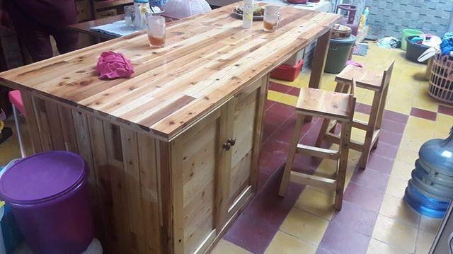 Pallet furniture table