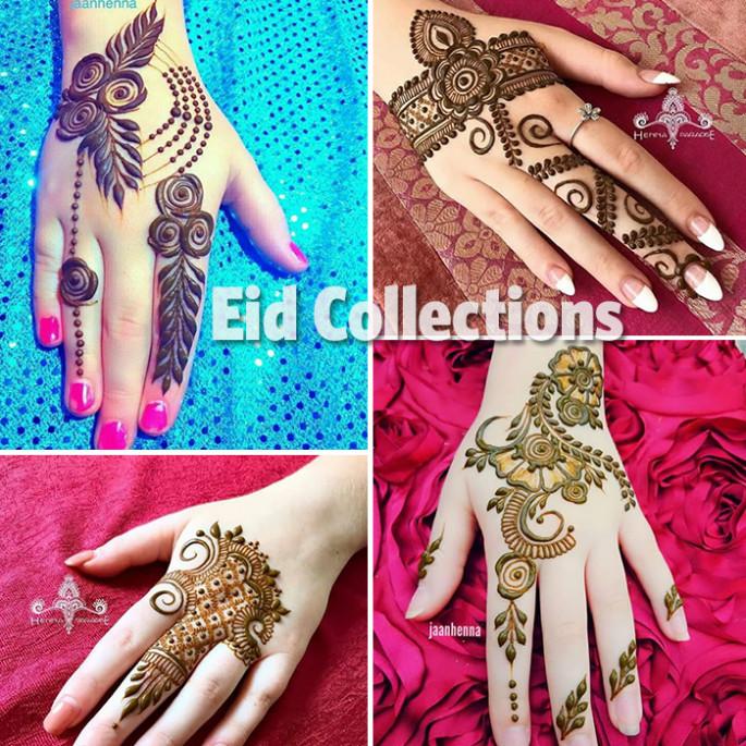 35+Beautiful and Easy Eid Festival Mehndi Designs for Girls