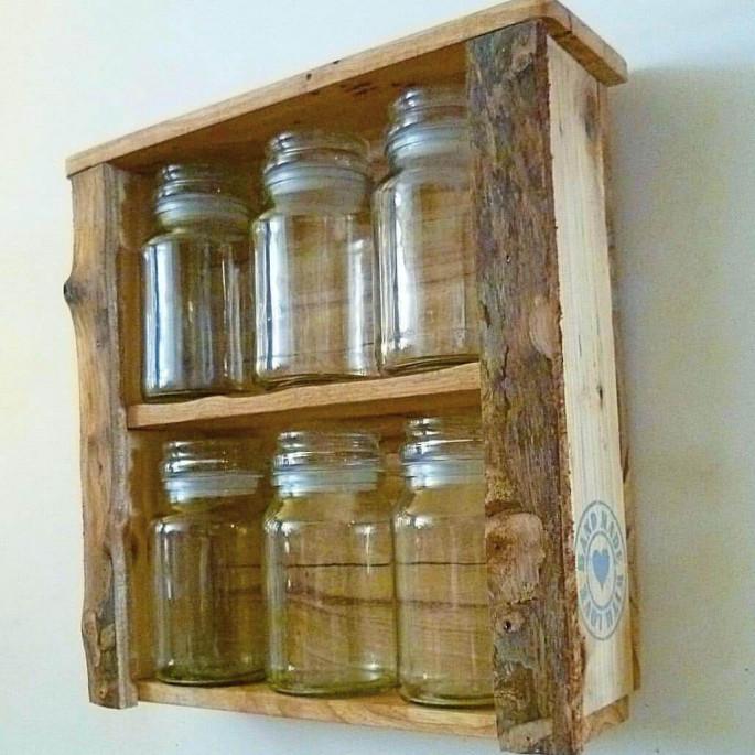 Pallet Wall kitchen Shelves ideas