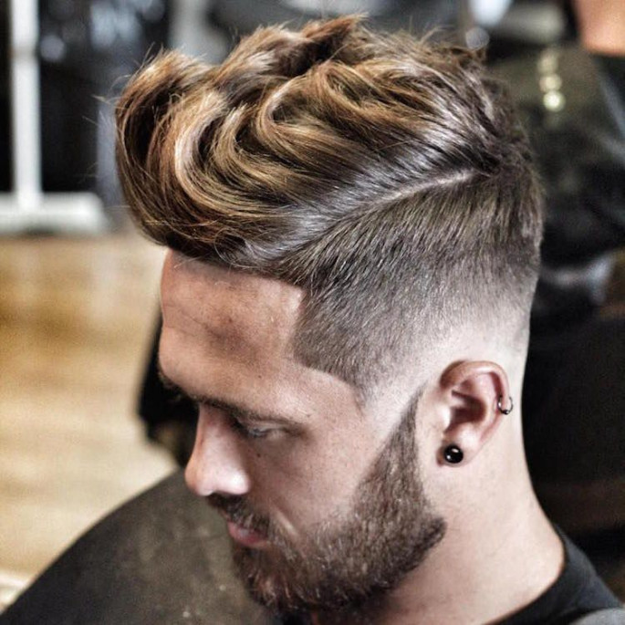 Thick Long Hair Quiff Asian Hairstyles for Men