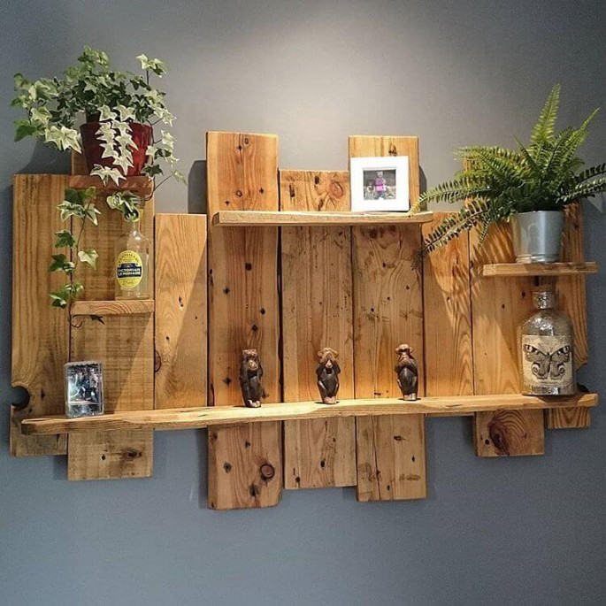 Building Pallet Wall Shelves with DIY ideas
