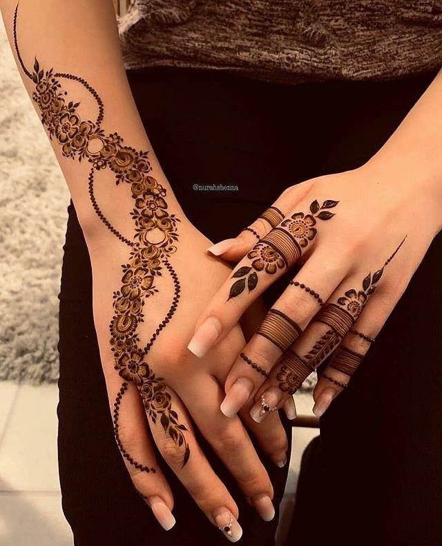 elegant backhand mehndi designs