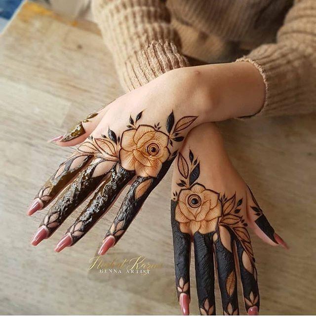 simple fingers mehndi designs