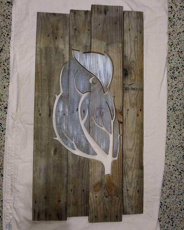 Pallet Owl Shelf Art