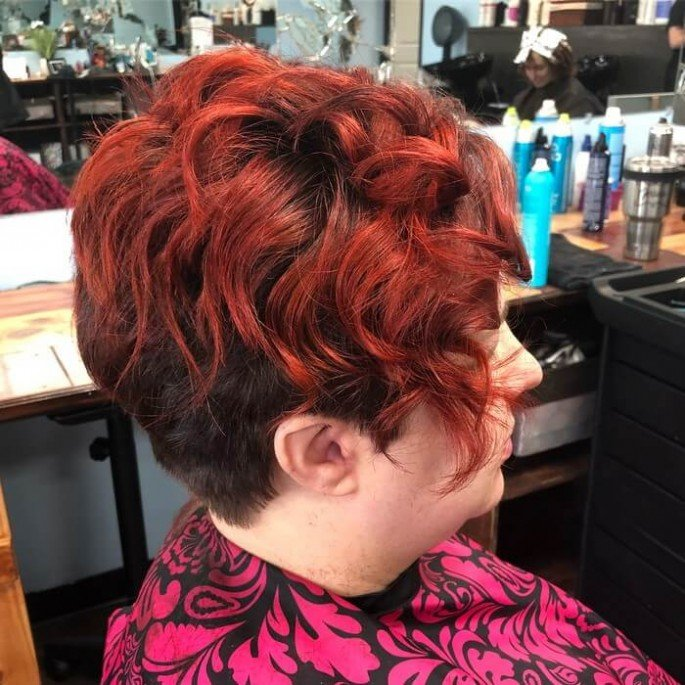 Short Bob heavy volume hair with Graduated Fringes