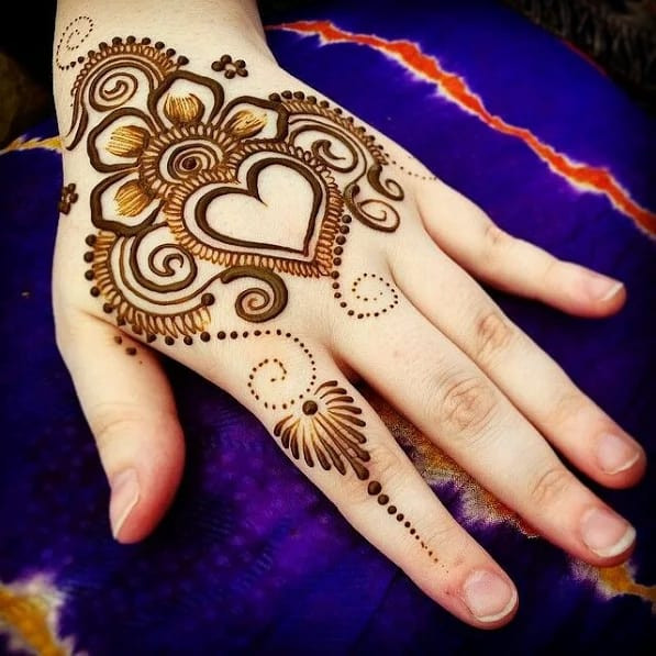 best Mehndi Art on Back Hand on new year