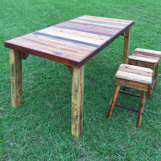 Pallet Wood Stools Projects Ideas