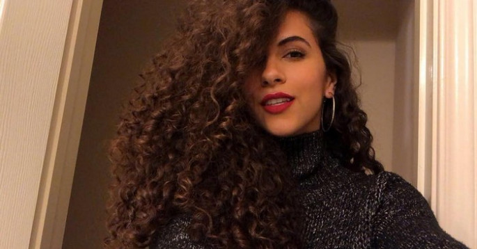 black long curly hairstyles 2018