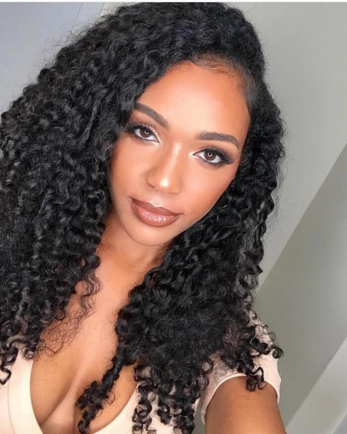 long black curly hairstyles