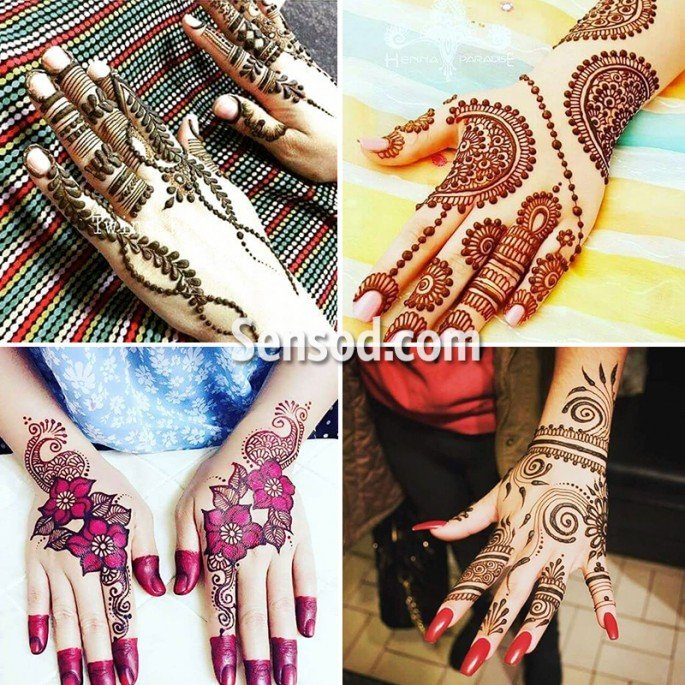 39+ Latest Trendy And New Mehndi Designs on Sensod