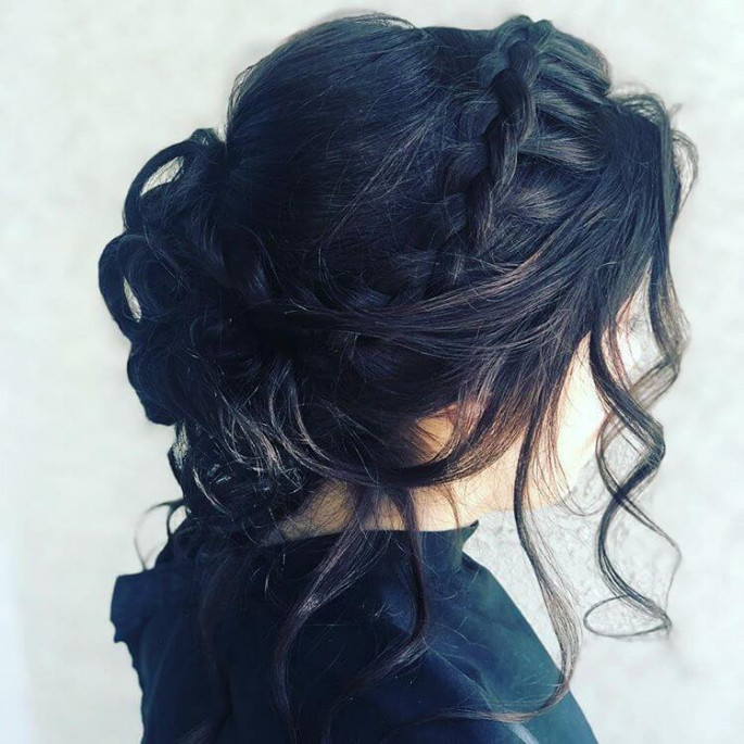 Natural curls Homecoming Hairstyles