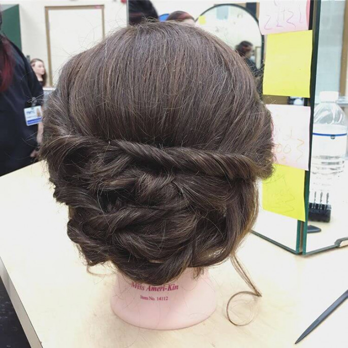 Half- Up Waves hairstyles
