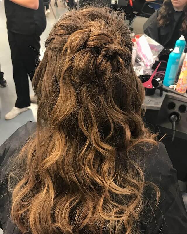 High Semi-Braided Pony hairstyles