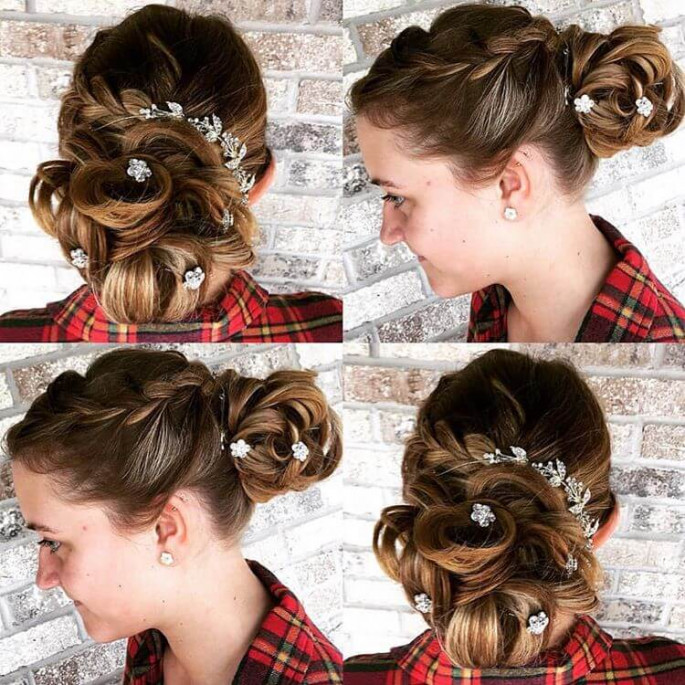 High Semi-Braided Pony hairstyles