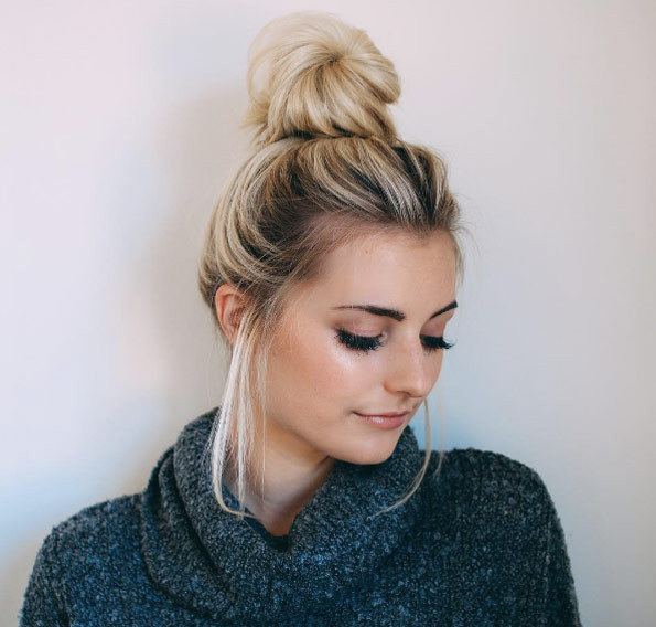 Messy BunHairstyles For Medium hair