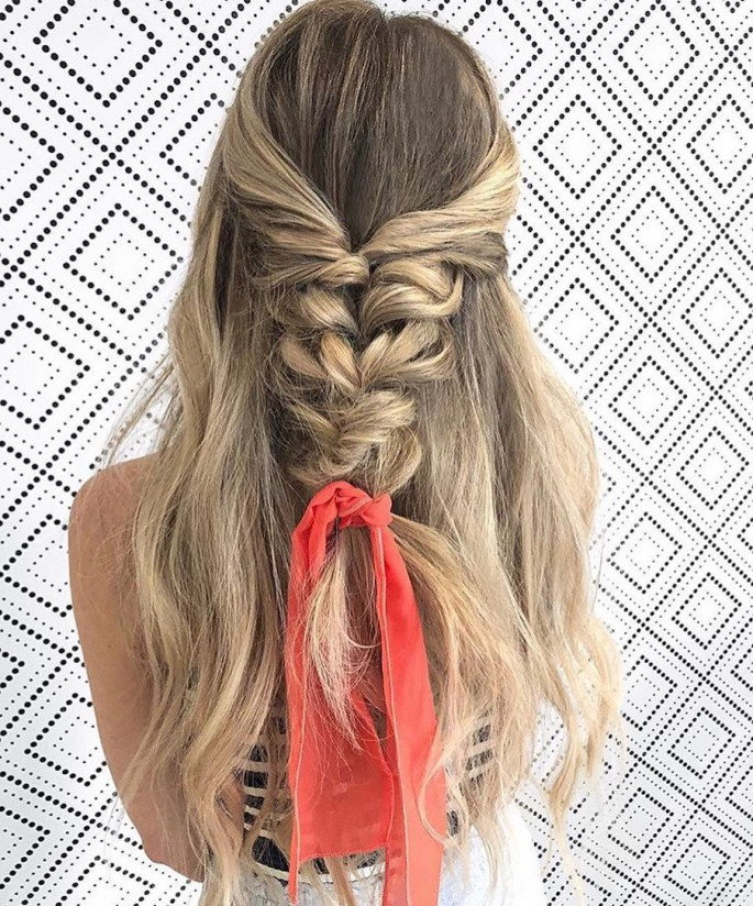Bouffant Ponytail hairstyle for girl
