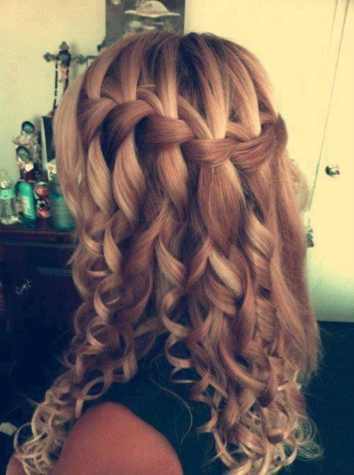 Fringe and Curls hairstyles for girls