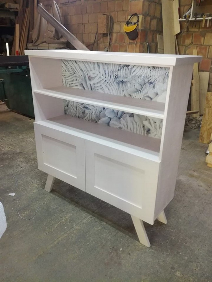pallet side table ideas and storage sections