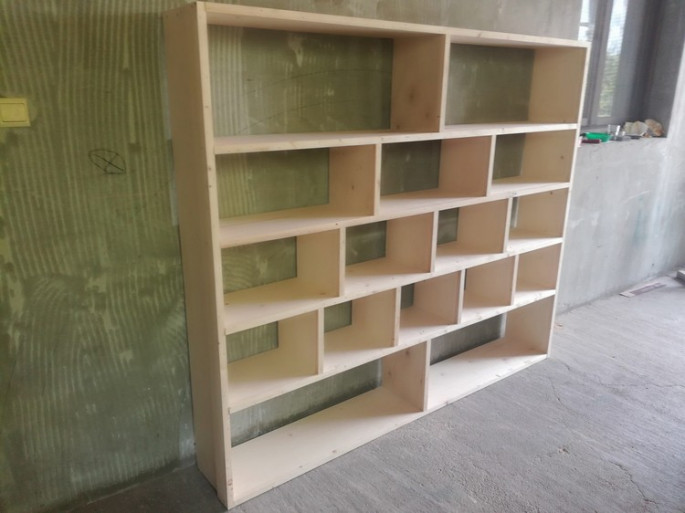pallet storage book and other stuff shelf