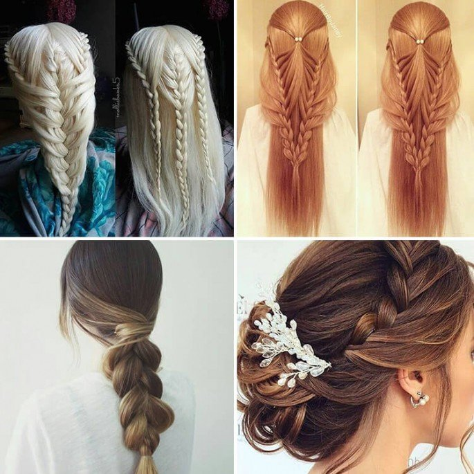 34 Easy Women Hairstyles for Long Hair on Festivals