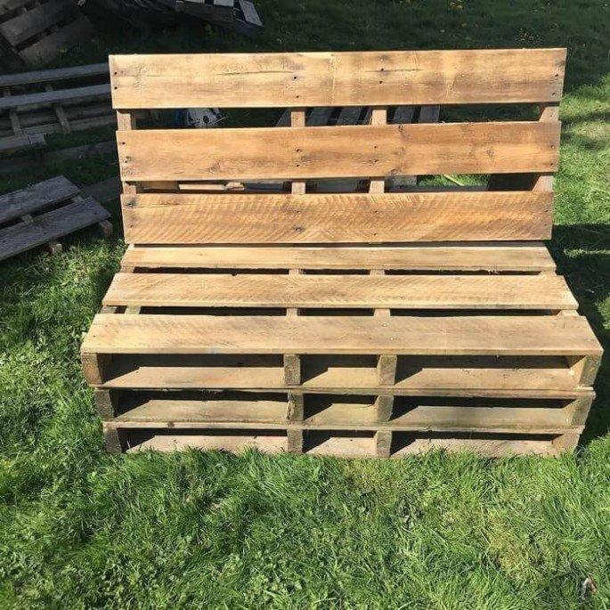 Outdoor garden pallet couch ideas