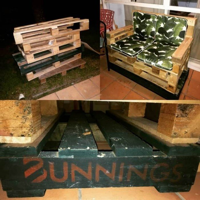 Outdoor garden pallet couch projects
