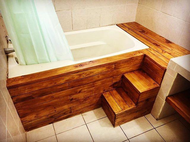 Pallet bathroom idea