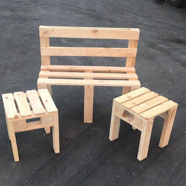 Pallet outdoor furniture bench