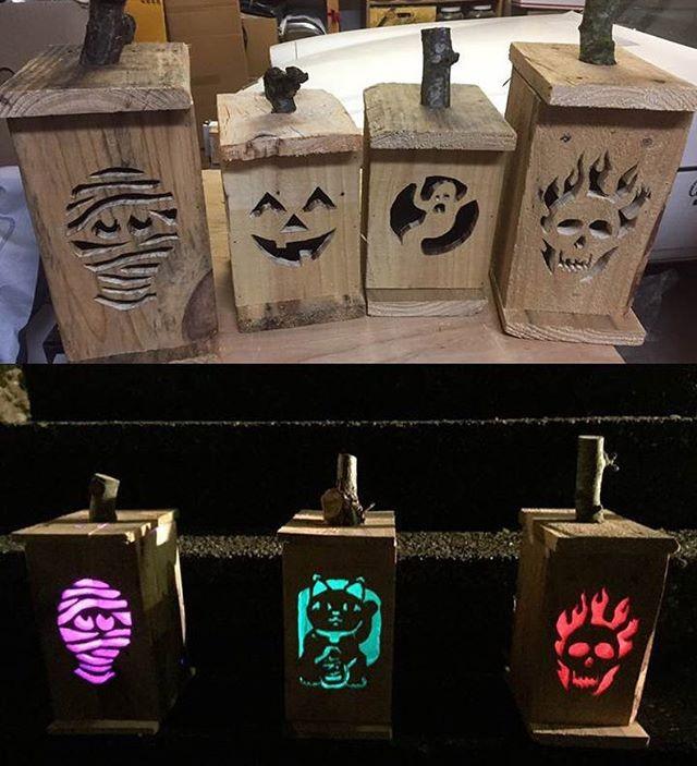 pallet glowing crafts