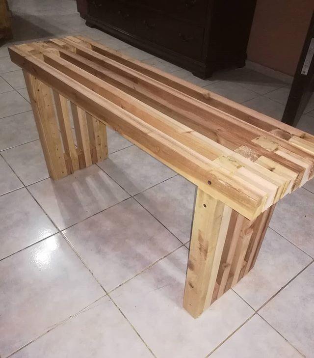 Pallet furniture desk