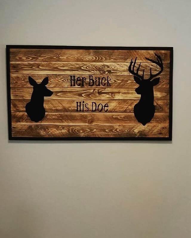 Pallet deer art