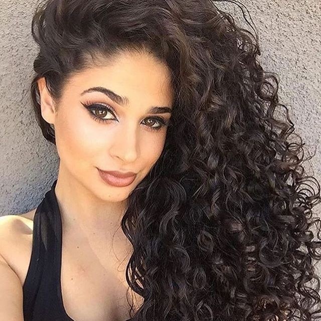 Long Curly Hairstyles for Square Face