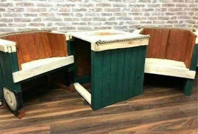 Pallet furniture chair