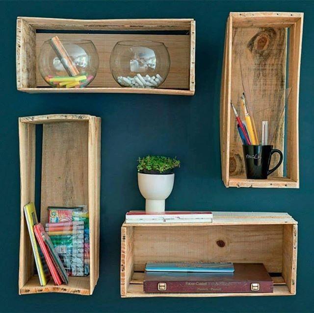 Pallet wall box decor