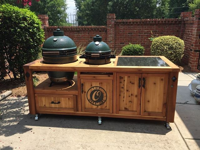 Pallet outdoor cooking table