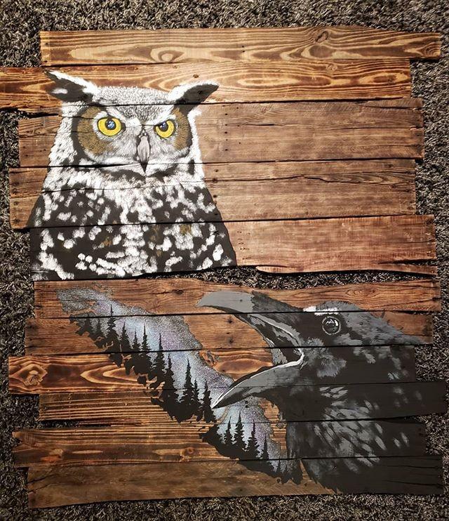 Pallet birds art